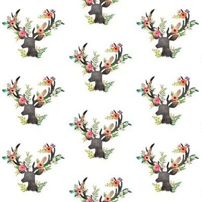 Mini Floral Rustic Deer