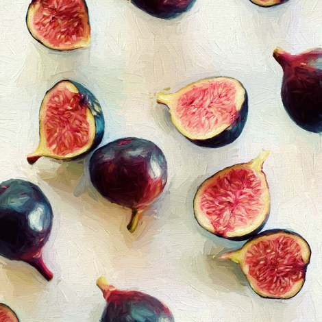 Fresh Figs on Linen - intense version fabric by micklyn on Spoonflower - custom fabric