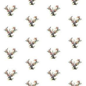 Mini Floral Deer - Print II