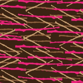 Tree Branch Graphic || Geometric Japan Pink Brown Tan Khaki Japanese Asian chocolate _ Miss Chiff Designs