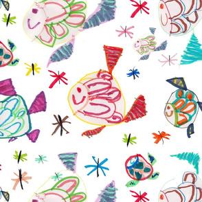 Zézé's Colourful Fishes