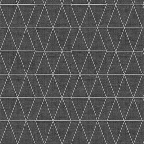 Geo Triangles Charcoal