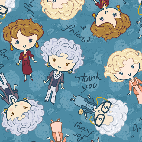 Thank You for Being a Friend fabric by elladorine on Spoonflower - custom fabric