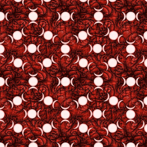 Triple Goddess Symbol dk red