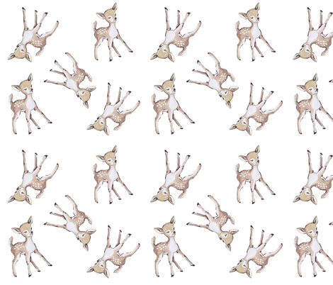 Fawn  fabric by averielaneboutique on Spoonflower - custom fabric