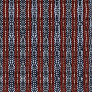 Red/blue vertical rosepath stripe