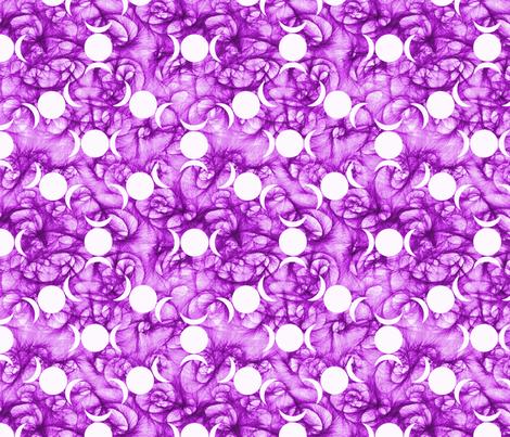 Triple Goddess purple symbol fabric by trgatesart on Spoonflower - custom fabric