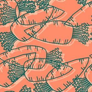 Dream Hare - carrots duo line orange
