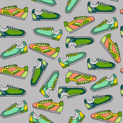 Dream Hare - sneaker scatter gray fabric by kheckart on Spoonflower - custom fabric