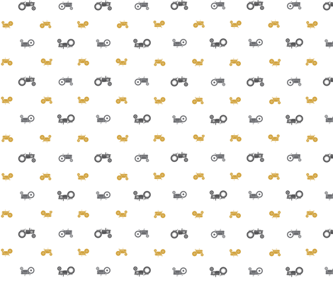 tractors_white fabric by mt_prairie_made on Spoonflower - custom fabric