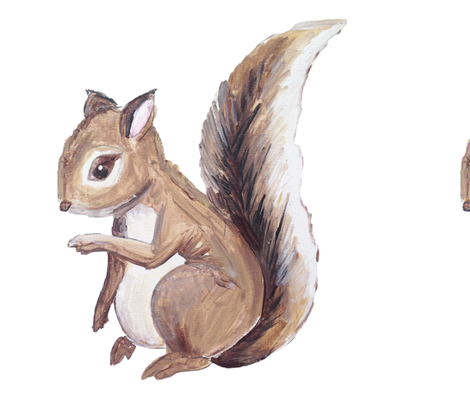 Large Squirrel fabric by averielaneboutique on Spoonflower - custom fabric
