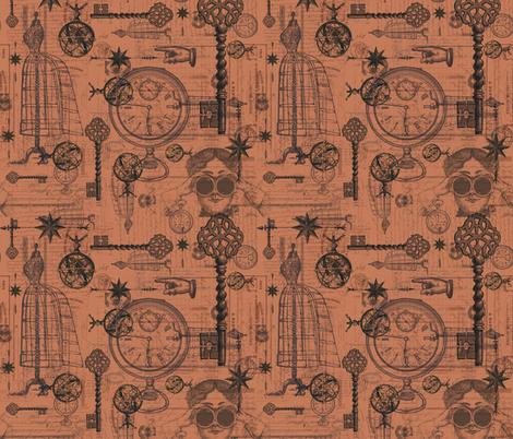 Victorian Travel Light Brown fabric by costumewrangler on Spoonflower - custom fabric