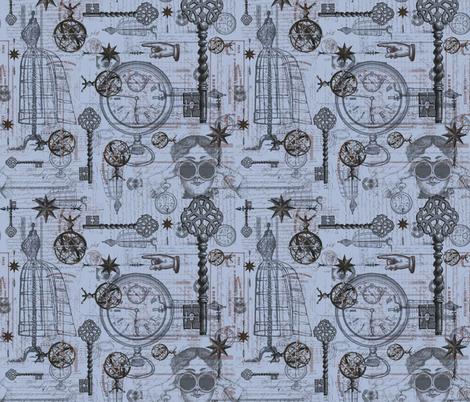 Victorian Travel Lilac fabric by costumewrangler on Spoonflower - custom fabric