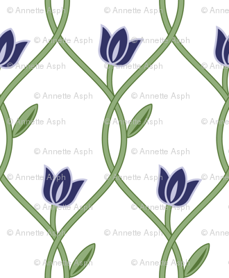 Flowerlines_Blue