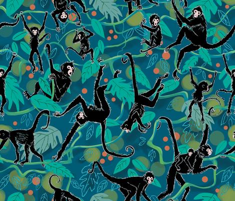 Spider Monkeys fabric by vinpauld on Spoonflower - custom fabric