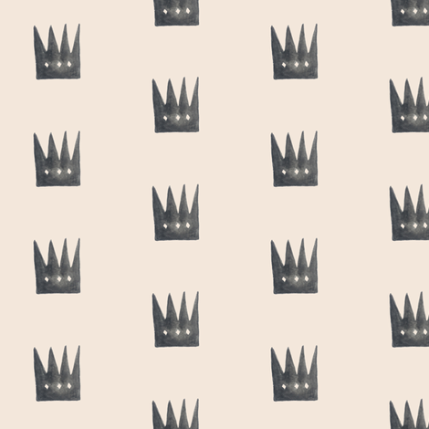 Pale Rose Quartz Crowns fabric by trizzuto on Spoonflower - custom fabric