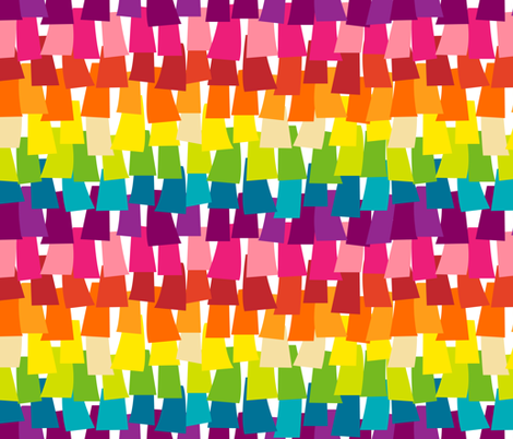 Rainbow Pinata Party fabric by pinky_wittingslow on Spoonflower - custom fabric