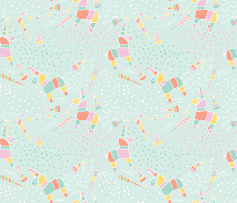 Piñata Party fabric by danielle_bettina on Spoonflower - custom fabric