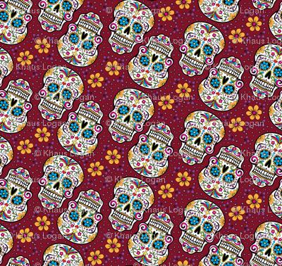 Sugar Skull Day Of The Dead Garnet