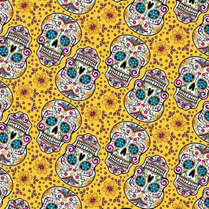 Sugar Skull Day Of The Dead Yellow
