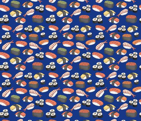Sushi Roll Funny Food fabric by khaus on Spoonflower - custom fabric