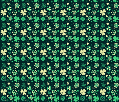 St Patricks Day Clovers fabric by khaus on Spoonflower - custom fabric