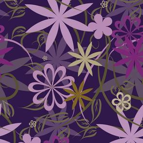 Pink vector floral design