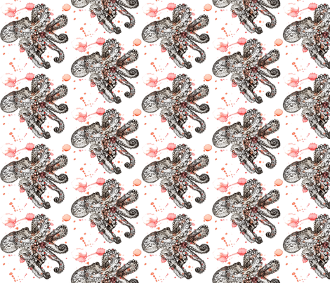 Watercolor Octopus fabric by sharksvspenguins on Spoonflower - custom fabric