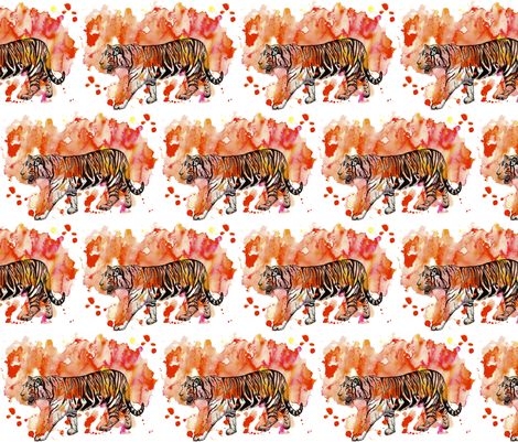 Tiger Tiger Burning Bright fabric by sharksvspenguins on Spoonflower - custom fabric