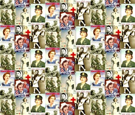 Orli Wald and Other Nurse Heroes fabric by nurseinsomniac on Spoonflower - custom fabric