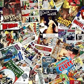 vintage comic book detective