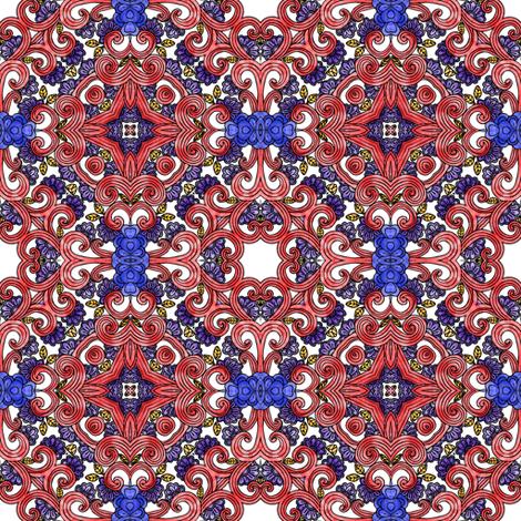 dappled red curls I fabric by janbalaya on Spoonflower - custom fabric