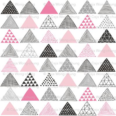 Triangles Geometric Pink