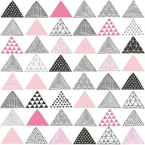 Triangles Geometric Pink