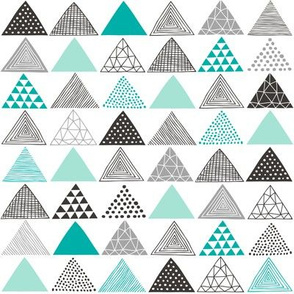 Triangles Geometric Mint Green