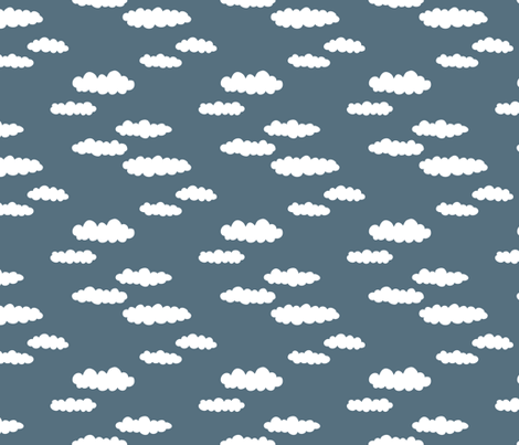 Dreams and clouds cool trendy scandinavian style hand for Night sky print fabric