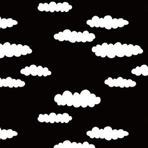 Dreams and clouds cool trendy scandinavian style hand drawn sky print gender neutral black and white