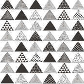 Triangles Geometric Black&White