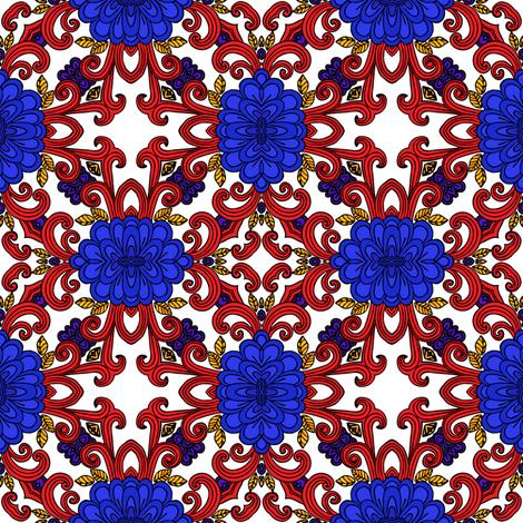 solid red curls I fabric by janbalaya on Spoonflower - custom fabric