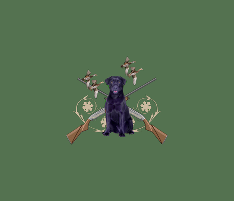 custom black lab hunts fabric by dogdaze_ on Spoonflower - custom fabric