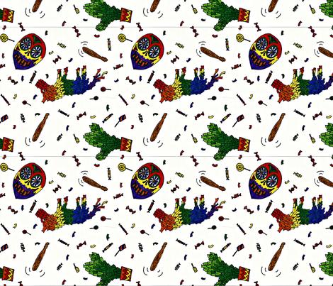 pinatapartykapow fabric by heatherqualtrough on Spoonflower - custom fabric