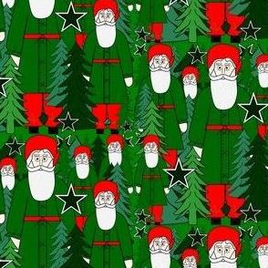 Woodland Fabric Santa, Trees & Stars #2