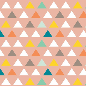 Custom Blush Triangles