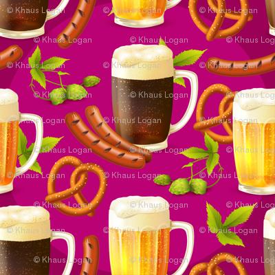 Octoberfest Beer, Bratz, Hops and Pretzles