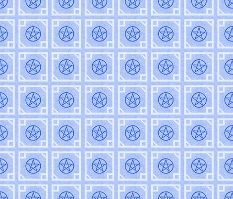 Pentagram light Blue fabric by trgatesart on Spoonflower - custom fabric