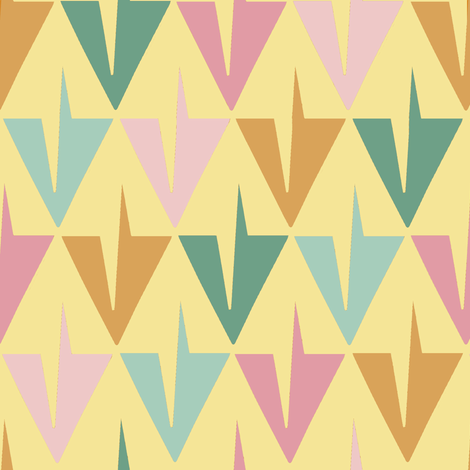 Toothy Spring Diamonds fabric by eclectic_house on Spoonflower - custom fabric