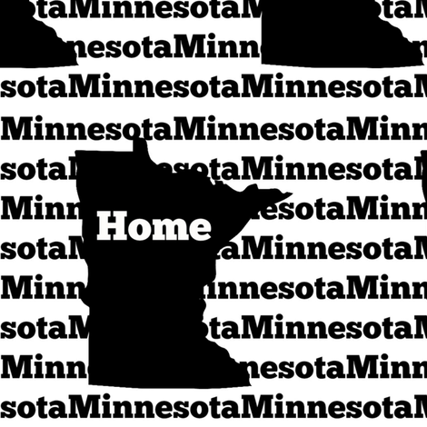 Home in Minnesota-Black fabric by sunshineandspoons on Spoonflower - custom fabric