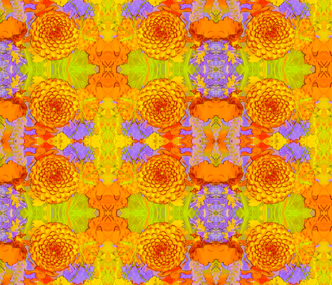 Marigolds fabric by ciswee on Spoonflower - custom fabric