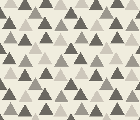 Gray Triangles Mod_Triangles fabric by googoodoll on Spoonflower - custom fabric