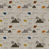Wilderness Scene Bears